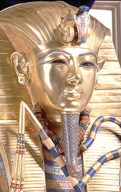 THE GOLD COFFIN OF TUTANKHAMON
