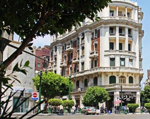 Building in downtown with European architecture
