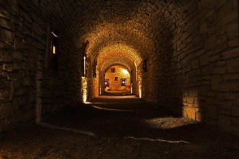 Photo of Castle Zaman passageway leading to treasure room