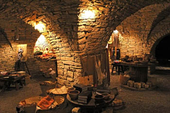 Authentic treasure room at Castle Zaman
