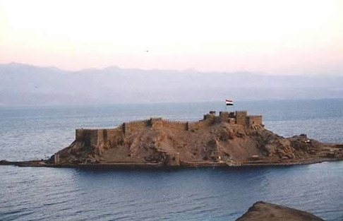 Crusader Island Near Taba on the Sinai
