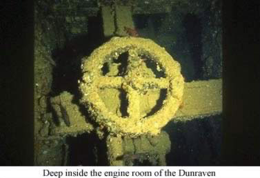 Deep inside the engine room of the Dunraven