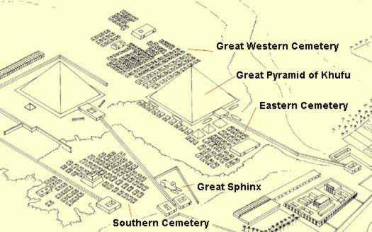 Map of the cemeteries