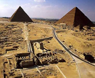Giza in Egypt, Home of the  Great Pyramids