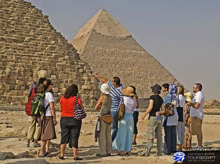 Photo of Tour Group at the Great Pyramids of Giza