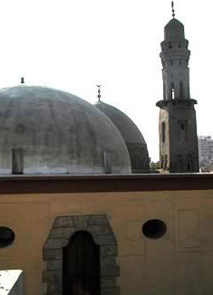 The Sama'Khana dome with the Mausoleum at the back