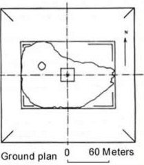 Ground plan of the Lepsius 1 Pyramid at Abu Rawash in Egypt