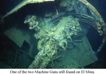 One of the two machine guns still found on El Mina