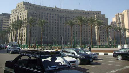 Mugamma-building in Tahrir Square