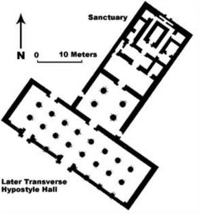 Plan of the Roman era Temple from Shenhur