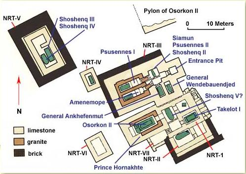 Plan of the Royal Tombs at Tanis