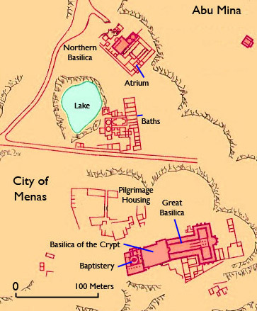 Site plan of the larger area of Abu Mina