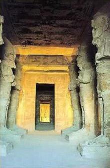 Interior of the Temple of Abu Simbel