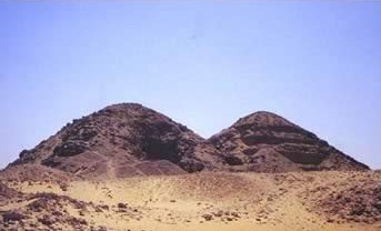 Photo of the Pyramid of Khentkaues II at Abusir in Egypt, next to that of Neferirkare