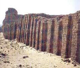 An ancient enclosure wall at Abydos