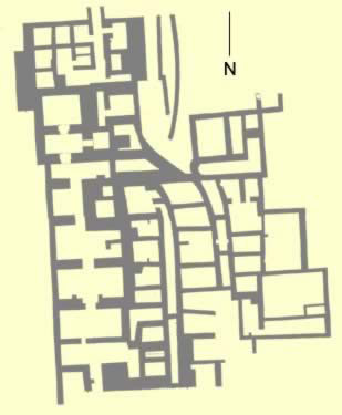Map of Alexander the Great temple