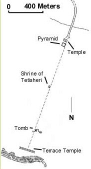 Location of the Pyramid Complex of Ahmose at Abydos in Egypt