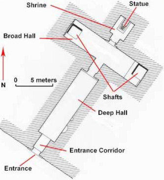 Plan of the tomb of Ahmose at Amarna
