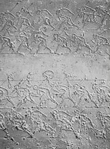 Lines of soldiers in the tomb of Ahmose