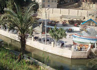 River-front restaurants at Ain El Selini
