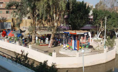 Small Children parks such as this one with rides are popular in many parts of Egypt