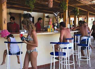 Beach bar in the Stella di Mare Complex at Ain Soukhna