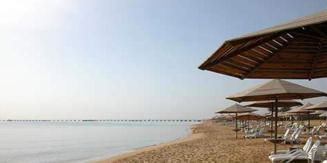 The vast beach at the Stella di Mare Complex at Ain Soukhna