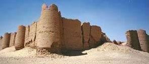 A general view of the fortress at al-Deir in the Kharga Oasis in Egypt