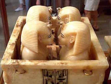 Alabaster Canopic Chest of Tutankhaman