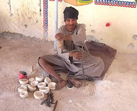 Alabaster Craftsman on the West Bank at Luxor