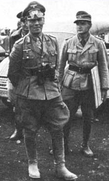 Rommel with his Africa Korps