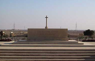Part of the British memorial at al-Alamein