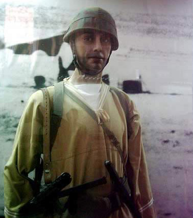 Display of An Italian Soldier