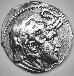 Coin struck with the head of Alexander the Great