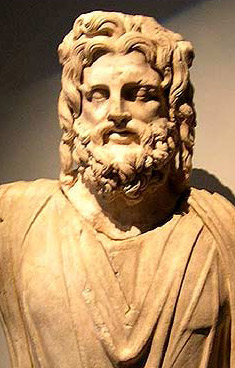 A statue of Sarapis, the god who was a unification of Osiris-Apis and Zeus, as well as a true Alexandria invention
