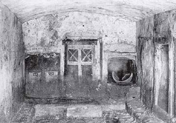 A burial chamber in Hypogeum A