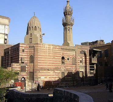 Exterior View of the Al-Gawhar Al-Lala Mosque in Cairo, Egypt
