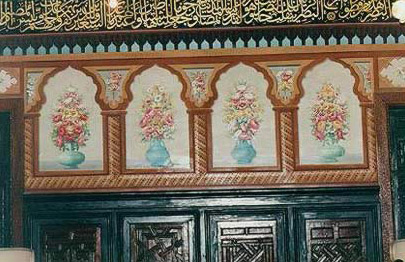 Decorated walls in the Residence Palace