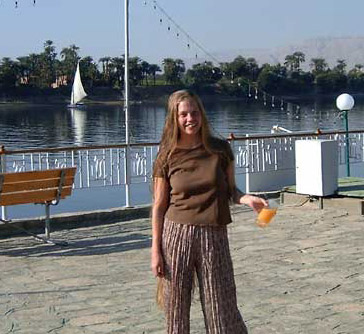 Just kicking back on the Nile can be very nice.