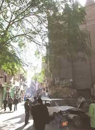 View of Bab-al-Wazir  street.
