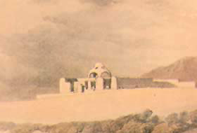A Part of a David Roberts Painting that clearly shows the copula added by the early Christians