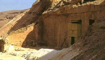 Entrance to the tomb of Meryra in the Northern Tomb group at Amarna