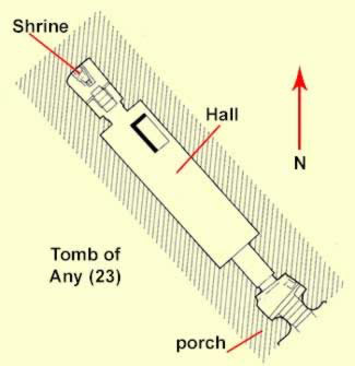 The simplest form of tomb at Amarna consists mostly of a deep hall with no transverse addition