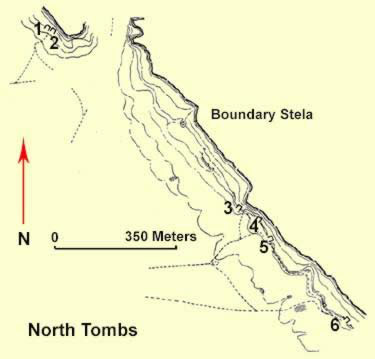 Layout of the North Tombs at Amarna
