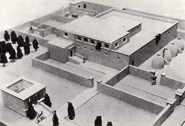 A model of  an Amarna Estate