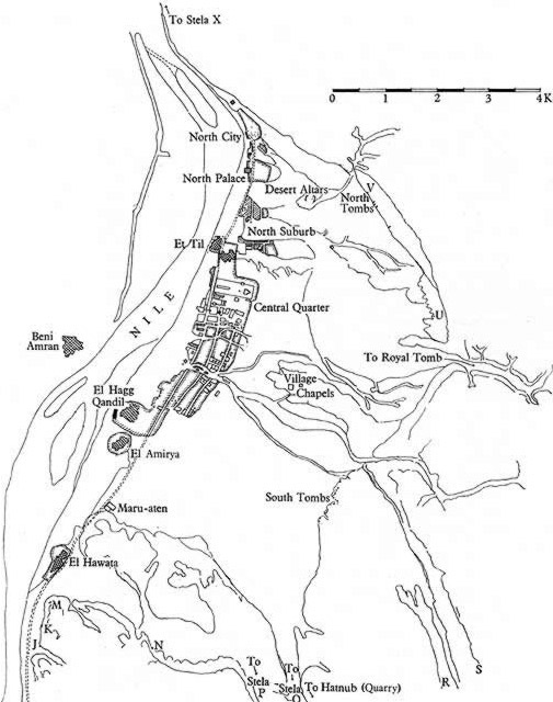 The plan of the area of el-Amarna