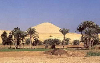 Another view of Amenemhet I's Pyramid at Lisht in Egypt