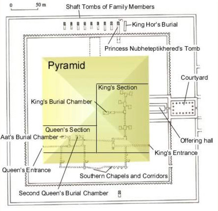 Plan of Amenemhet III's pyramid