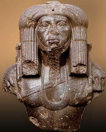 Upper Part of a Statue of Amenemhet III in Priestly Dress