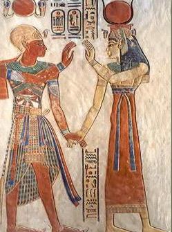 Ramesses III with Isis